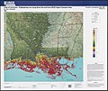 State of Louisiana, highlighting low-lying areas derived from USGS digital elevation data (34791551580).jpg