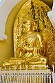 Statue of Buddha in Japanese Peace Pagoda, Darjeeling 01.jpg