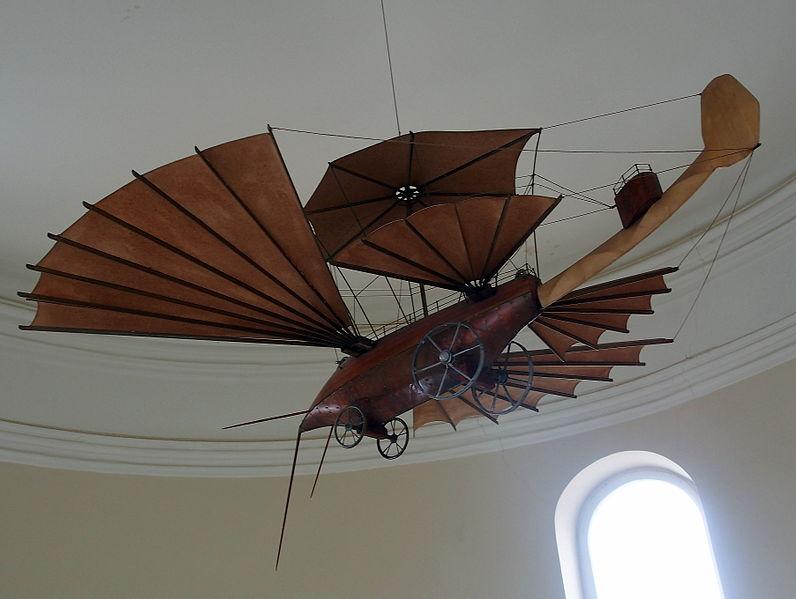 File:Steampunk aircraft at Maison de Jules Verne - Amiens.JPG