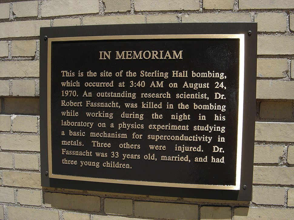 Sterling Hall plaque