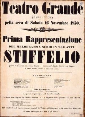 Stiffelio - Original poster for Stiffelio, 1850