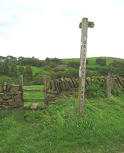Stile on the Gritstone Trail - geograph.org.uk - 258304.jpg