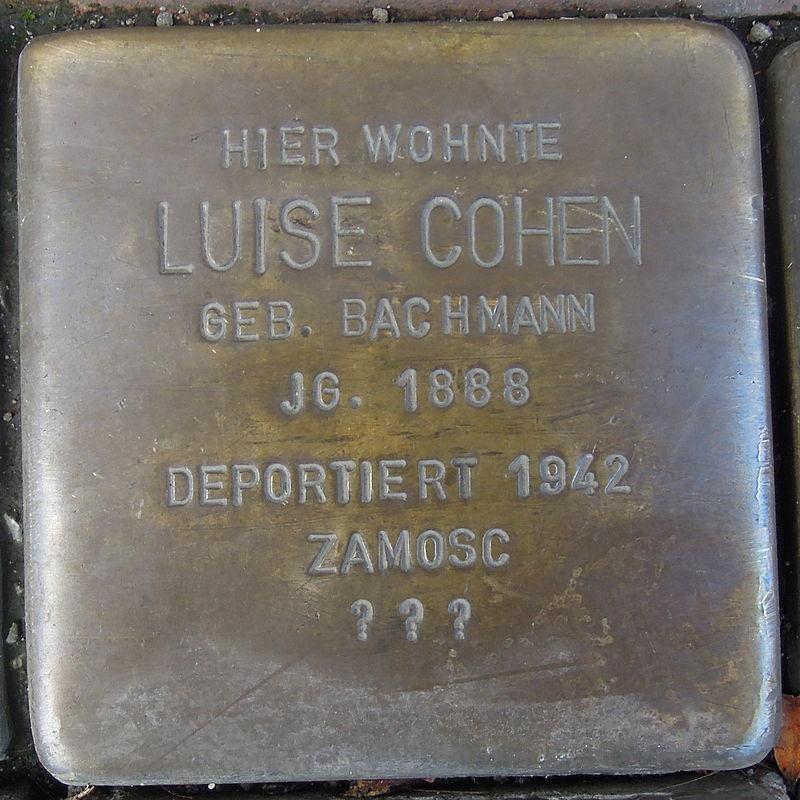 Stolperstein für Luise Cohen geb. Bachmann