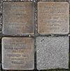 Stolpersteine für Ernst, Else und Ruth Jacobsen