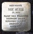 Stolperstein Güntzelstr 60 (Wilmd) Max Meier2.jpg