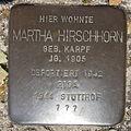 Stolperstein Gelsenkirchen Bismarkstraße 152 Martha Hirschhorn.JPG