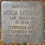 Stolperstein Gerda Abraham Jena 2014.jpg