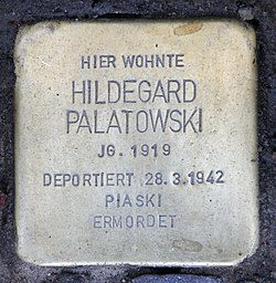 Photo of Hildegard Palatowski brass plaque
