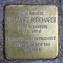 Photo of Rosalie Borchardt brass plaque