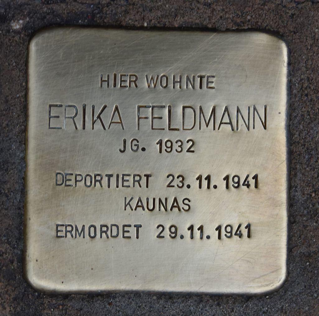Stolperstein für Erika Feldmann.JPG