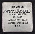 Stolperstein für Johanna Löschgold.JPG