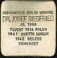 Stolpersteine Köln Josef Siegfried Heimbacher Straße 13 10.jpg