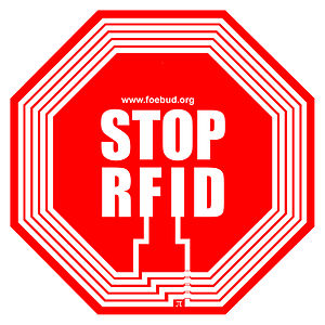 Logo of the anti-RFID campaign by German priva...
