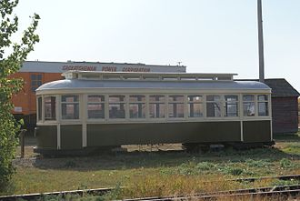 Preston Car Company - A streetcar once used in Calgary and Saskatoon, preserved at the Saskatchewan Railway Museum