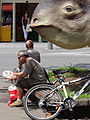 Street Scene with Sculpted Dinosaur - Giessen - Germany.jpg