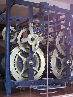 William Stumbels - William Stumbels' turret clock mechanism in Totnes Museum.