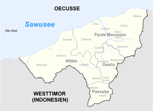 Oecusse District - Subdivisions of Oecusse