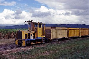 2 ft gauge railways in Australia - An example of a typical sugar cane railway in Queensland.