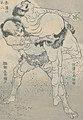 Sumo wrestlers in 1834 art detail, from- 富岳百景-Fugaku Hyakkei MET LC-JIB109 003 (cropped).jpg
