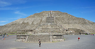 Pyramid of the Sun Mesoamerica structure in in Teotihuacan, first built in 100 CE