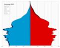 Suriname single age population pyramid 2020.png