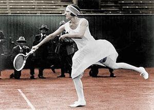 Suzanne Lenglen career statistics - Suzanne Lenglen in action circa 1920
