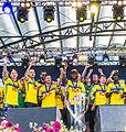 Sweden national under-21 football team celebrates in June 2015-12.jpg