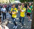 Sweden national under-21 football team celebrates in June 2015.jpg