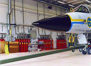 Clean agent FS 49 C2 - Swedish Air Force Hangar Protected with 7000 kg Clean Agent FS49C2