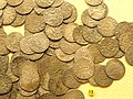 Swedish ortugs, from Masku coin hoard (c. 1400) - National Museum of Finland - DSC04145.JPG