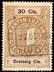 Switzerland Lucerne 1897 revenue 6 30c - 54 - E 1 97.jpg