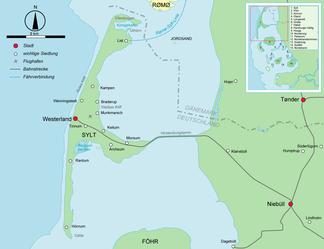 Karte von Sylt