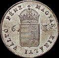 Szh 6 krajczár 1849 obverse.jpg