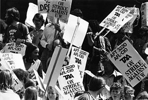 Teaching Assistants Association - TAA on strike in 1970