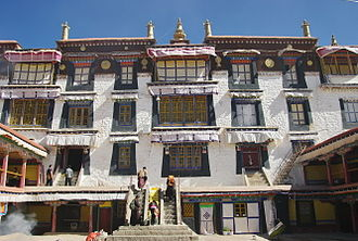 "Ganden Phodrang - Drepung Monastery's ""Ganden Podrang residence which served as the seat of the Dalai Lamas until the seventeenth century."""