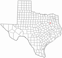 Location of Athens, Texas