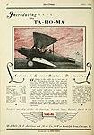 Ta-Ho-Ma Model A advertisement Aero Digest April 1929.jpg