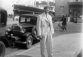 Tadeusz Pankiewicz - Tadeusz Pankiewicz in Gdynia, 1936