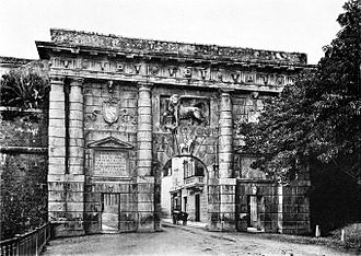 Kingdom of Dalmatia - Landward Gate in Zadar, the capital of the Kingdom of Dalmatia, 1909
