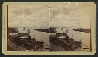 Tampa Bay - Tampa's waterfront, 1890.