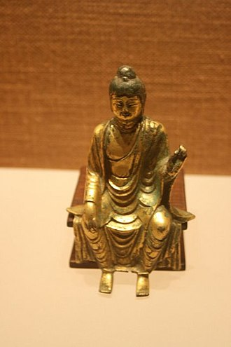 History of Asia - Miniature statue of Buddha from the Tang dynasty