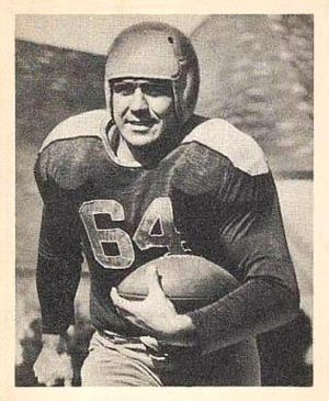 Ted Fritsch - Fritsch on a 1948 Bowman football card