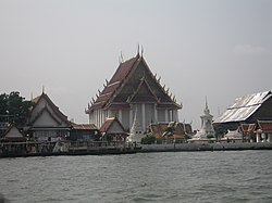 Wat Kanlaya as seen from the river