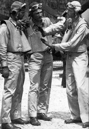 John Thach - Thach (right) teaches new pilots.