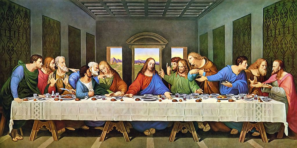 Poslední večeře. Leonardo DaVinci/Wikimedia.