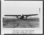 "The ""Patrician,"" the largest passenger plane yet to be produced, piloted by Capt. St. Claire Street, army flier, who brought it from Bristol, Penn.. to Washington, with twenty passengers and LCCN94509080.jpg"