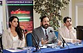 The Chairman of Organising Committee, Commonwealth Games 2010 Delhi, Shri Suresh Kalmadi addressing a press conference, at the launch of the Queen's Baton Relay, in London on October 26, 2009.jpg