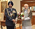 The Chief of the Air Staff, Air Chief Marshal B.S. Dhanoa calls on the Prime Minister, Shri Narendra Modi, in New Delhi on January 09, 2017.jpg