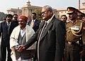 The Defence Minister, Shri A. K. Antony receiving the Deputy Prime Minister, Home and Defence Minister of Nepal, Mr. Bijay Gachhadar, in New Delhi on January 18, 2012.jpg