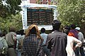 The Electronic Digital Display Board at the office of the Election Commission of India displaying the results of General Election-2009 for the public, at Nirvachan Sadan, in New Delhi on May 16, 2009 (1).jpg